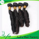 O volume humano brasileiro do cabelo do Virgin da onda da mola