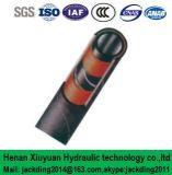 Estática cable conductor insertado, la fibra espiral hidráulica de succión y manguera de caucho de entrega (de tubo roscado 2 + 1mp)