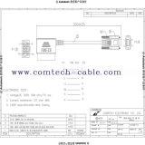 OBD2 16p Mannelijke 90 die Graden aan de Schakelaar van de Interface van de Lijn van Dusb 9pfemale worden verpakt