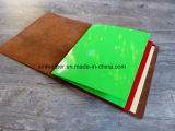 Cahier élastique de dépliant de fichier de couverture de cuir de fermeture avec le bloc-notes