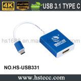USB 3.1 Cm da velocidade da ceia ao adaptador ativo de HDMI (o VGA)