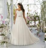 Modischer Organza-Schatz-trägerloses Ballkleid-Hochzeits-Kleid