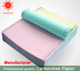 Papel sin carbono colorido para la impresión de los vales
