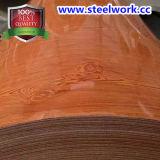 PPGI a enduit la bobine d'une première couche de peinture en acier de configuration en bois des graines
