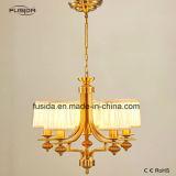 Illuminazione Pendant del nuovo di disegno del tessuto del quadrato di figura lampadario a bracci dell'oro per la casa/ristorante D-6117/5