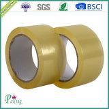 単一の収縮のゆとりBOPPの付着力のパッキングテープ(P010)