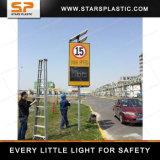 레이다 탐정 경고 측정 전시 소통량 번쩍이는 제한 속도 표시