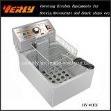 Le panier électrique de bureau commercial du réservoir 1 du fabricant With1 de friteuse, de pommes frites et de pommes chips de vente chaude, CE a approuvé (HY-81EX)