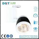 Carril blanco/negro de encargo de moda Tracklight de la exposición LED del shell
