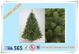 Темно - зеленая пленка PVC для листьев рождественской елки