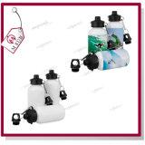 400ml 500ml Splitter-und weiße Sublimation-überzogene Aluminiumwasser-Flasche