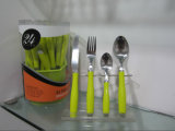 Steel inoxidable Dinner Cutlery Set avec le numéro P05 de Colorful Plastic Handle