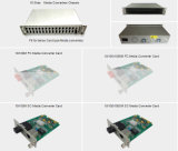 19 Inch 2u 100m 1000m 16 Slot Fiber Media Converter Chassis mit Sc/FC/St/LC Card Type Media Converter