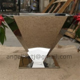 Miroir Finish Handmade Modern Design Unique Forme Stainless Steel Vase