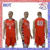 Ozeason völlig sublimierte orange Basketball-Jersey-Uniform-Sportkleidung