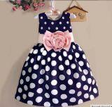 Usura dolce dei bambini del vestito dalle ragazze di fiore dei capretti del PUNTINO di Polka di modo