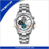 Kundenspezifische Entwurfs-neue Edelstahl-Uhr für Förderung-Geschenk