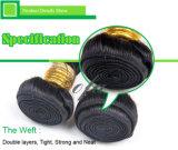 便利な使用の自然で黒くまっすぐなマレーシアの毛の拡張人間の毛髪の織り方のブランド