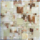 Decoración Material Jade piedra natural de mármol en mosaico de la teja (FYSC385)