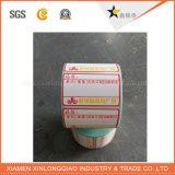 Príncipe adhesivo Printer Label de las ventas del servicio de la etiqueta engomada de la impresión de la etiqueta