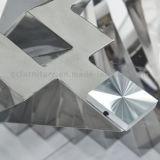 2016 Moderno última mesa de comedor Espejo superior de cristal con Metal