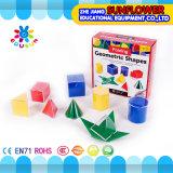Preschool игрушки лаборатории науки твердой геометрии установленные пластичные многофункциональные воспитательные установили 12PCS. Геометрическая модель (воспитательное оборудование)