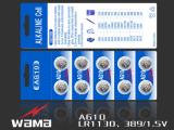 AG10 Lr-1130 1.5V alkalische Tasten-Zellen-Batterie