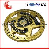 Divisas uniformes del metal del ejército del oro del laminado de la alta calidad