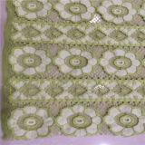 Tela do laço da flor do algodão para o vestido da menina