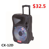 12 duim Bluetooth Speaker met Trolley en LED (CX-12D)