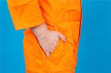 Workwear longo da combinação da luva da segurança do poliéster 35%Cotton de 65% com reflexivo (BLY1017)