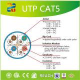 Feste blank kupferne Leiter UTP Cat5e-4p Belüftung-Umhüllung