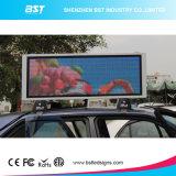 Buena muestra a todo color al aire libre de la tapa LED del taxi de la calidad P5mm