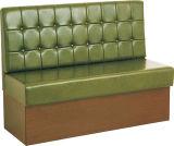 Het moderne Groene Meubilair van de Bank van het Restaurant van het Leer Houten voor Verkoop (foh-CBCK17)