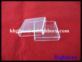 Стеклянная тара кварца сплавленного кремнезема Manufacurer Transaprent