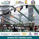 Tente en cristal de mariage de 1000 personnes avec le toit et les flancs transparents