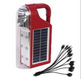 Lumière campante rechargeable solaire portative de lanterne de DEL avec la radio