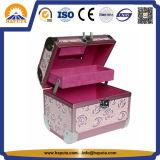 Алюминиевая коробка хранения красотки для ювелирных изделий с зеркалом состава