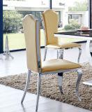 Re moderno Throne Chair del cuoio dell'acciaio inossidabile della sala da pranzo per l'hotel