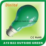 Luz A19 verde exterior Incandescent