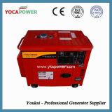 赤いカラーの携帯用5kw無声ディーゼル発電機
