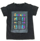 T-shirt impresso de Boy em Short Sleeve para Children Clothes