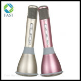 Mikrofon des Karaoke-K068 + Lautsprecher - Bluetooth 3.0, KTV Karaoke-Effekte, speicherndes Kabel, Batterie 1000mAh