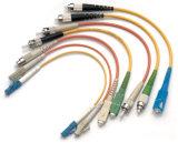Шнур заплаты оптического волокна (ST LC SC FC, однорежимный мультимодный, симплексный дуплекс)