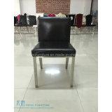 의자 (HW-YY10C)를 식사하는 까만 PU 방석 금속 프레임 호텔