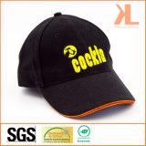 Gorra de béisbol aplicada con brocha pesada de la tela cruzada del algodón con el pico del emparedado