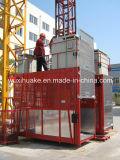 二重ケージ容量2000kgの建物の起重機(SC200/200)
