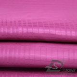 Agua y de la ropa de deportes tela tejida chaqueta al aire libre Viento-Resistente 100% del poliester del filamento del telar jacquar de la tela escocesa abajo (53132L)