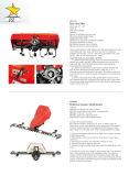 Tractor Grillo con cuchilla de nieve y colector de nieve