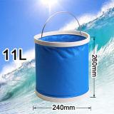 13 litros de cubo plástico de la pesca que acampa